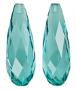 Incredible Set of Finest Pair of Aquamarines in  Briolette Cut, 15.84 carats, -- SOLD
