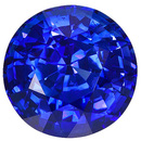 Vivid Color & Large Size - Stunning Genuine Blue Sapphire for SALE, Round Cut, 2.65 carats