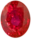 Gleaming Red Ruby Genuine Gemstone for SALE, Bright Fiery Red in Oval Cut, 6.0 x 4.8mm, 1.00 carat