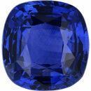Amazing Sapphire Loose Gem in Antique Cushion Cut, Medium Violet Blue, 6.82 x 6.55  mm, 1.66 Carats