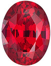 Chatham  Ruby Oval Cut in Grade GEM