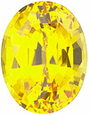 Chatham  Yellow Sapphire Oval Cut in Grade GEM