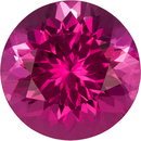 Rich Pink Nigerian Tourmaline Loose Gem in Round Cut, No Treatment Gem in 6.8 mm, 1.12 carats