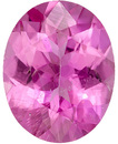 Appealing Tourmaline Loose Gemstone in Oval Cut, Medium Pure Pink, 9.9 x 7.7 mm, 2.08 carats
