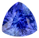 Breathtaking Unheated Medium Blue Sapphire, with AGL Certificate, Trillion Cut, 2.1 carats