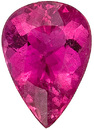 Exceptional Cut and Clarity, Lively Reddish Pink Tourmaline Brazilian Gemstone, Pear Cut, 7.33 carats