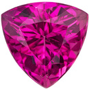 Eye Catching Intense Rich Pink Tourmaline Loose Gem in Trillion Cut,  8.0 mm, 1.94 carats
