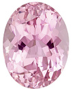 Fine Light Pure Pink Tourmaline Loose Gem in Oval Cut, 12 x 9.2 mm, 4.91 carats