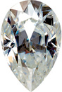 Forever One Moissanite Near Colorless Pear Cut