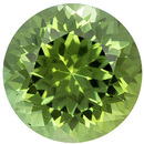 Lovely  Lime Mint Green Tourmaline Loose Gem in Round Cut, 8.1 mm, 2.24 carats