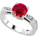 Ravishing Beautiful Red Natural 1 carat 6mm Ruby Gemstone set in Attractive Solitaire Engagement Ring - Metal Options
