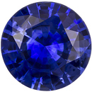 Super Rich Blue Gem Sapphire Loose Stone in Round Cut, Desirable Size in 6.4 mm, 1.05 carats