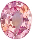 Very Elegant Pad Like Sapphire Loose Gem in Oval Cut, Pretty Pink Orangey Peach Color in 5.9 x 5.0 mm, 0.85 carats