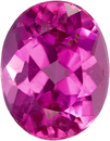 Vibrant Hot Pink Tourmaline Loose Brazil Gem in Oval Cut, 8.9 x 7 mm, 2.06 Carats