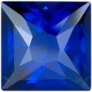Vivid Blue Sapphire Genuine Gemstone for SALE, AGTA Cert, Princess Cut, 3.20 carats - SOLD