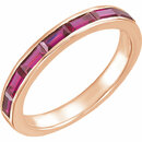 14 Karat Rose Gold Chatham Created Ruby Ring