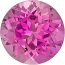 Very Desirable Tourmaline Loose Gem in Round Cut, Medium Rich Pink, 8.9 mm, 2.83 Carats