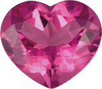Heart Shape Pink Tourmaline Gemstoone, German Cut in Bold Pink Color, 13.0 x 11.2 mm, 5.53 carats