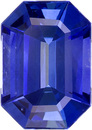 Gorgeous Sapphire Loose Gem in Emerald Cut, Intense Rich Blue, 7.4 x 5.2 mm, 1.16 Carats - SOLD