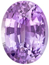 GIA No Treatment Sapphire Lavender Purple Gemstone, 9.7 x 7.3 mm, 2.79 Carats - With GIA Certificate