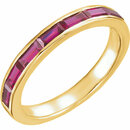 14 Karat Yellow Gold Chatham Created Ruby Ring