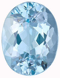 Very Clean, Well Cut and Bright Brazilian Natural Aquamarine Gemstone, Oval Cut, 1.85 Carats