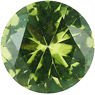 Imitation Peridot Round Cut Gems