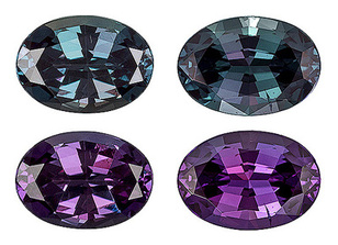Impeccable Well Matched Brazilian Alexandrite Gemstone Pair for SALE - Excellent Color Change & Superb Clarity, Oval Cut, 1.47 carats - With GIA Certificate