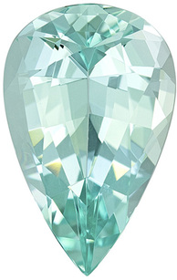 Stunning Sea Foam Blue Green Beryl Gem in Pear Cut,  18.4 x 11.7 mm, 7.90 carats