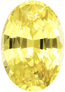 Great Buy on Yellow No Heat Sapphire Oval Cut in Pure Intense Yellow Color in 8.8 x 6.1 mm, 1.98 carats - GIA Certified - SOLD
