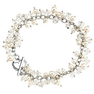 Eye-catching 6mm Freshwater Pearl Blessed Bracelet in Sterling Silver