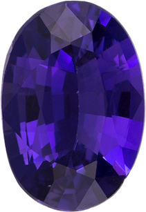 Unheated GIA Sapphire Loose Oval Cut Gem in Rich Violet Purple Color, 7.5 x 5.1 mm, 0.94 Carats - With GIA Certificate