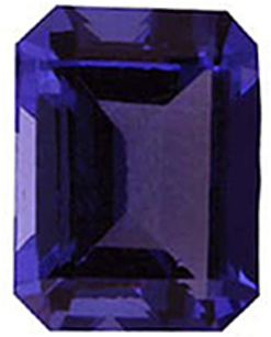 Imitation Tanzanite Emerald Cut Gems
