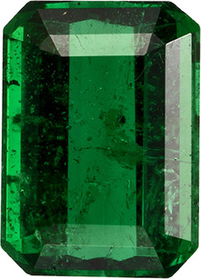 Bright & Lively Emerald from Brazil Loose Gem, Intense Rich Green Color, 5.9 x 4.2 x mm, 0.56 carats