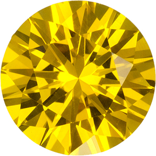 Rich Vibrant Yellow Ceylon Sapphire Loose Gem in Round Cut, 6.5 mm, 1.2 Carats - SOLD