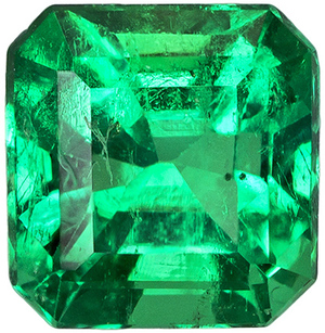 Super Eye Clean Columbian Emerald in Square Cut, Medium Green Intensity in 5.0 x 4.8 mm, 0.57 carats - SOLD