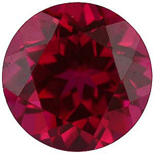 Imitation Ruby Round Cut Gems