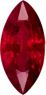 Marquise Shape Genuine Ruby in Vivid Rich Red, 9.8 x 4.8 mm, 1.29 carats - SOLD