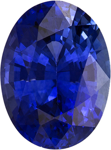 Top Color Blue Sapphire Loose Gem in Rich Blue Color, 8.0 x 5.9 mm, 1.47 carats