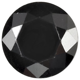 BLACK CUBIC ZIRCONIA Round Cut Gems - Calibrated