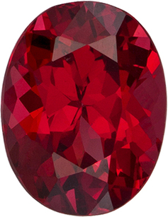 Fire Engine Red Spinel Vietnamese Genuine Gem in Oval Cut, 7.3 x 5.7 mm, 1.2 Carats