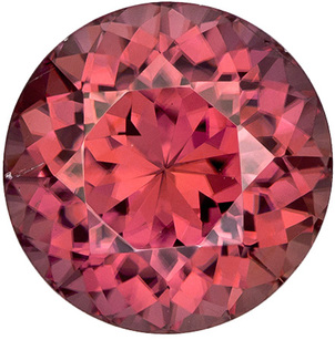 Impressive Zircon Loose Gemstone in Round Cut, Rosy Copper Brown, 10.2 mm, 6.43 carats