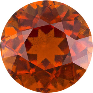 Orange Gem Hessonite in Round Cut, Vivid Rich Orange Color in Large 9.7 mm, 4.08 Carats