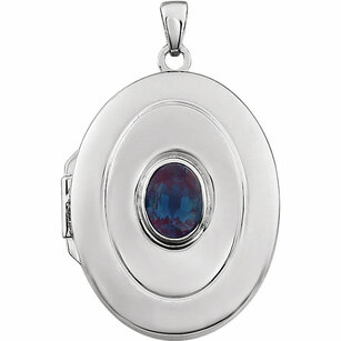 Sterling Silver Created Alexandrite