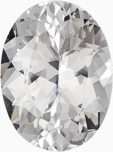 Beautiful Colorless Natural Gemstone for SALE - Clean & Well Cut - Great Value, Oval Cut, 8.73 carats