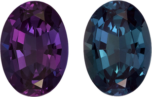 Rare Gubelin Certified Alexandrite Loose Classic Gem, 100% Change Blue Green to Eggplant, 7.7 x 5.5 mm, 1.10 carats