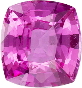 Deal on Untreated GIA Certified Antique Square Cut Pink Sapphire Loose Gem in Rich Pink Color, 6.0 x 5.7 mm, 1.08 carats