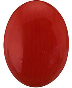 Genuine Red Coral Oval Cabochon Gems  - Calibrated