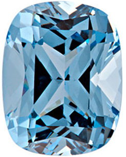 Grade GEM CHATHAM CREATED AQUA BLUE SPINEL Antique Cushion Cut Gems  - Calibrated