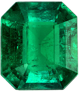1.50 carats Ultra Fine Columbia Emerald Loose Crystal Gem, Vivid Green Color, 7.7 x 6.7 mm Size